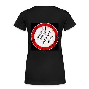 Nicht bewegen, es wird gearbeitet (auf dem Rücken) - Frauen Premium T-Shirt