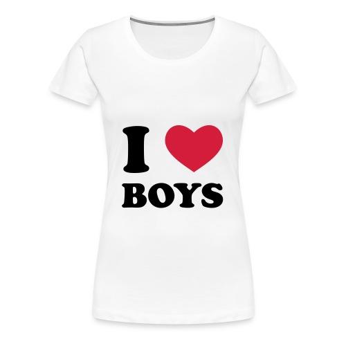 i <3 boys - Women's Premium T-Shirt
