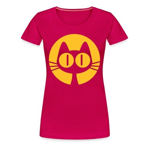 Woman's Pink Cat Tee - Women's Premium T-Shirt