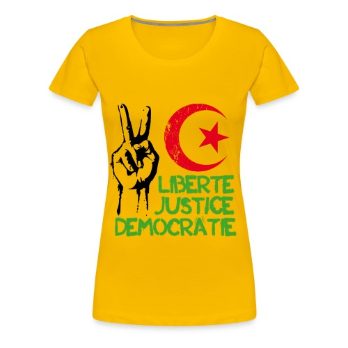 Liberté Justice Démocratie - T-shirt Premium Femme