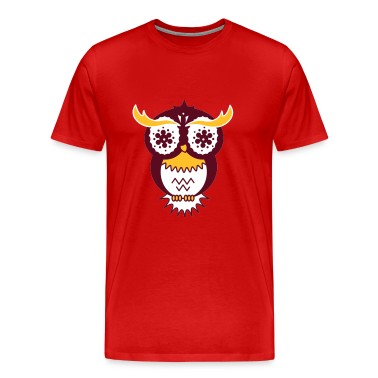 A psychedelic owl T-Shirts