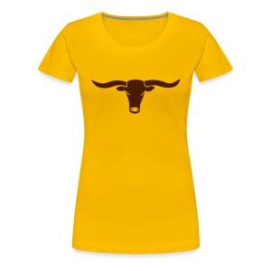 tier shirt bulle bullig polizei ochse horn hörner rodeo evil augen büffel bison cowboy wilder westen - Frauen Premium T-Shirt