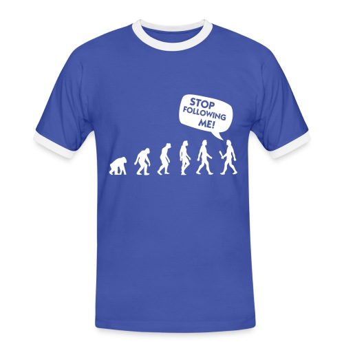 Evolution - Herre kontrast-T-shirt
