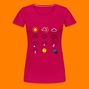 Weather Forecast Girlie Top - Women's Premium T-Shirt