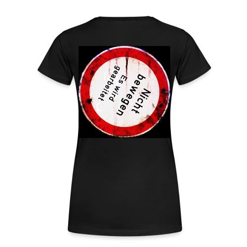 Nicht bewegen, es wird gearbeitet (Hinten) - Frauen Premium T-Shirt