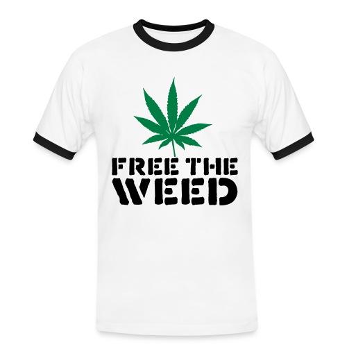 Weed - Herre kontrast-T-shirt