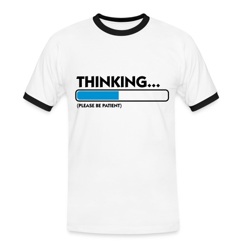Thinking - Herre kontrast-T-shirt