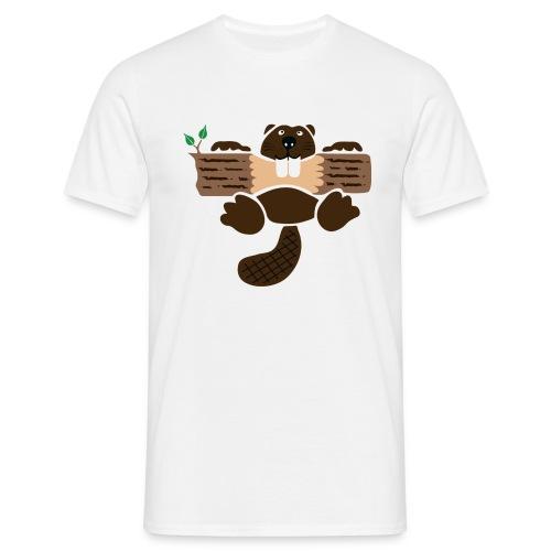 t-shirt biber bieber nager fleissig otter burg natur tier zähne - Männer T-Shirt