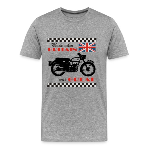 Made when Britain was Great - BSA Bantam - Men's Premium T-Shirt