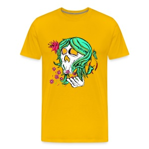 Nature Skull Girl - MENS Tee - Men's Premium T-Shirt