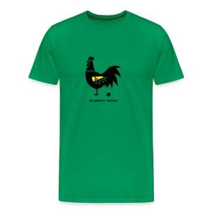 t-shirt blindes huhn hahn gockel henne vogel hühner blind gackern ei - Männer Premium T-Shirt