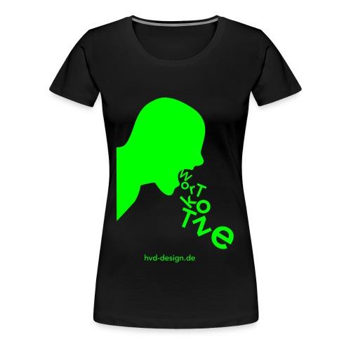 Wortkotze - Frauen  - Frauen Premium T-Shirt