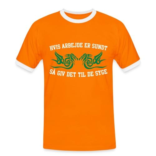 Arbejde - Herre kontrast-T-shirt