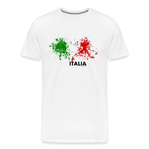 Flag Italy - Maglietta Premium da uomo