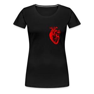 I love / I heart Herz Anatomy  T-Shirts - Frauen Premium T-Shirt
