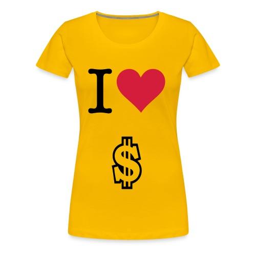 i love money t-shirt  - Women's Premium T-Shirt