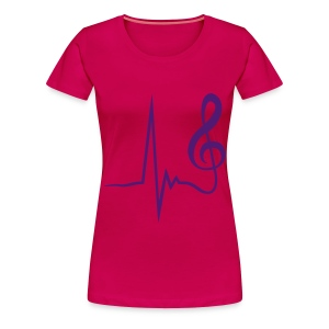 Musicbeat - Frauen Premium T-Shirt