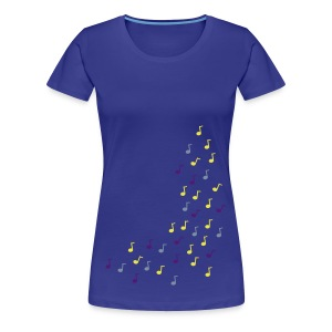 flying Notes - Frauen Premium T-Shirt