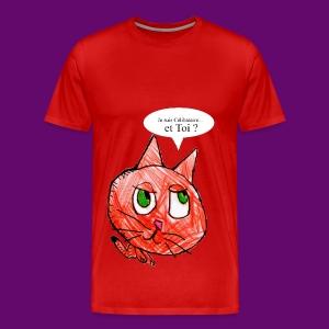 CHAT CELIBATAIRE - T-shirt Premium Homme