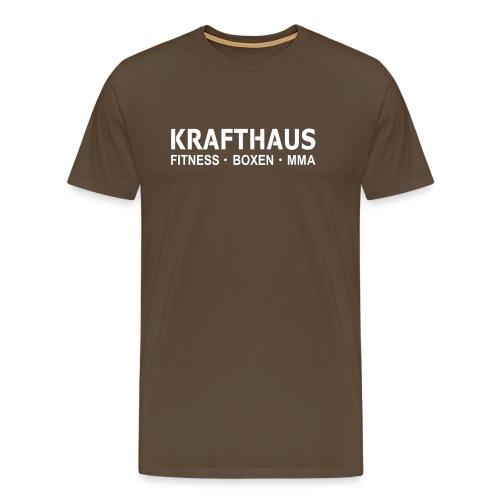 Krafthaus - Shirt /Brown - Männer Premium T-Shirt