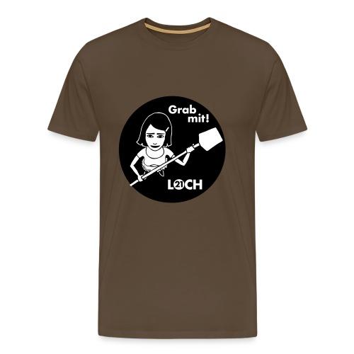 Lochshirt für Kerle - Männer Premium T-Shirt