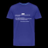 Tee shirts ~ T-shirt Premium Homme ~ BSOD - Blue Screen of Death - Windows
