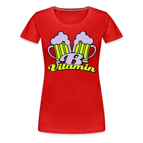 Bier zit vol met vitamine B Dames T-shirt - Vrouwen Premium T-shirt