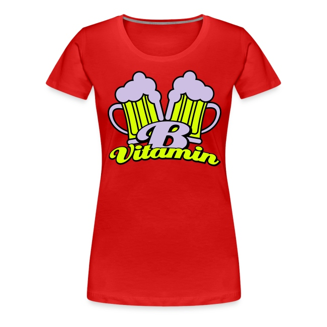 Bier zit vol met vitamine B Dames T-shirt