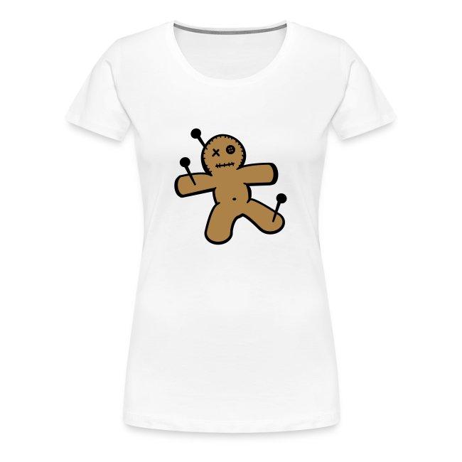 Grote Maten Dames T-shirt met Voodoo Pop Opdruk
