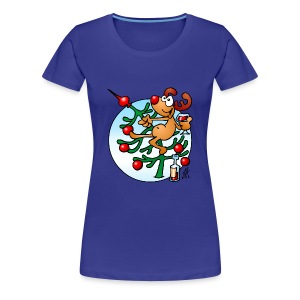 Reindeer in a Christmas tree - Women's Premium T-Shirt