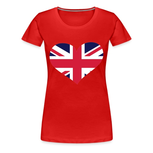 Womens UK Heart - Women's Premium T-Shirt