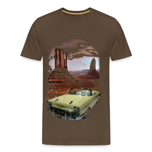 oldie in front of dessert - Männer Premium T-Shirt