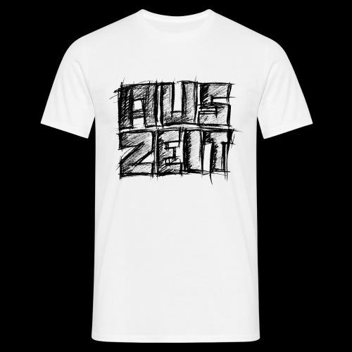 Auszeit black print - Koszulka męska