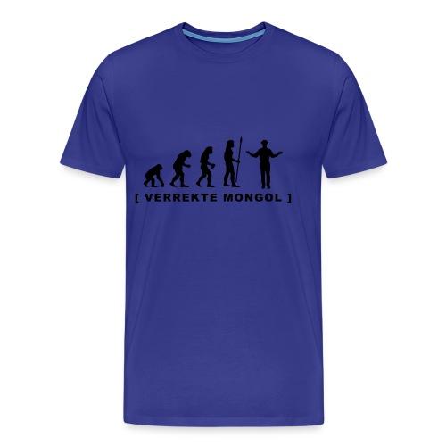 New Kids T-shirt Evolutie - Verrekte Mongol - Mannen Premium T-shirt