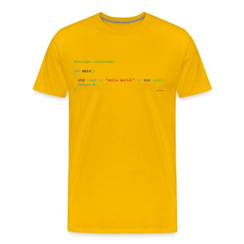 C++ Coder - Hello World! - Men's Premium T-Shirt