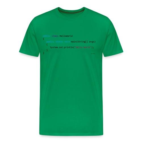 JAVA Coder - Hello World! - Men's Premium T-Shirt