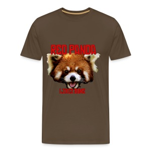 Red Panda Likes Guns - Men's Premium T-Shirt