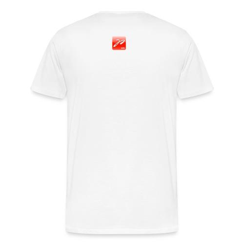 Männer Übergrößen-Shirt Multicolor (weiß) - Männer Premium T-Shirt