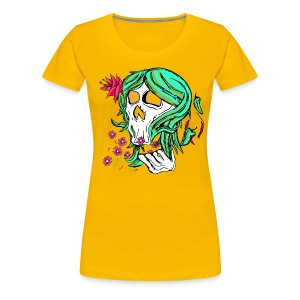 Nature Skull Girl -Girlie Tee - Women's Premium T-Shirt