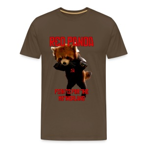 Red Panda Fights for the Motherland - Men's Premium T-Shirt