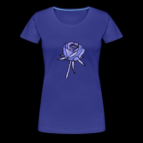 Rose blau - Dame premium T-shirt