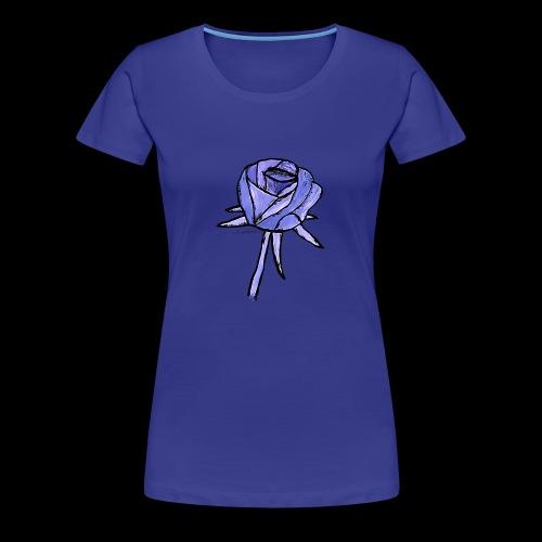 Rose blau - Koszulka damska Premium