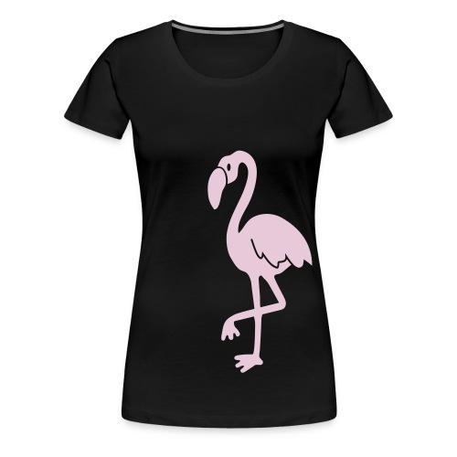 t-shirt flamingo vogel flügel feder tropisch pink lange beine miami tropicana hawai - Frauen Premium T-Shirt