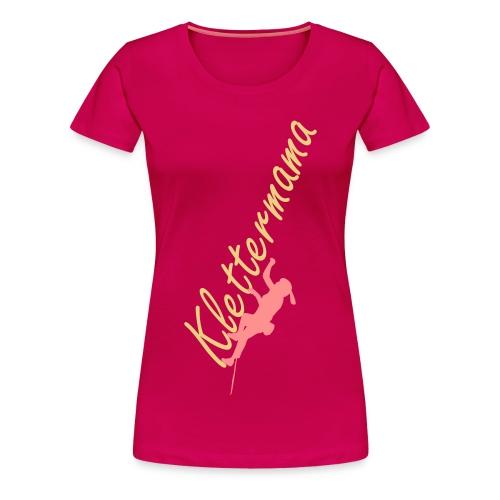 Shirt - Klettermama - Frauen Premium T-Shirt