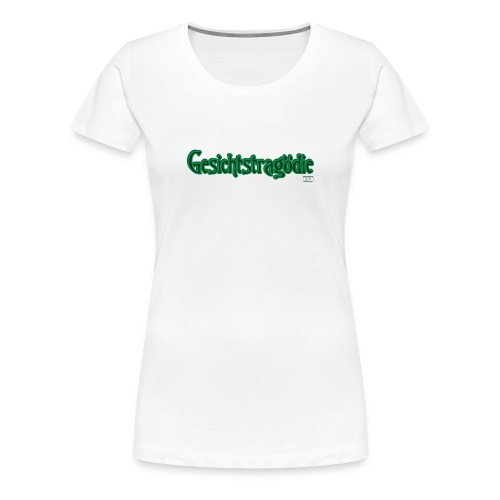 Frauen Premium T-Shirt - Gesichtstragödie