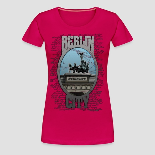 BERLIN CITY ATZENCITY Girlieshirt  - Frauen Premium T-Shirt