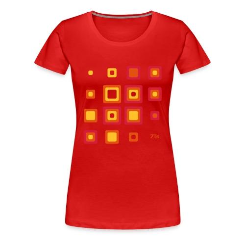 Future Retro RED from 7Ts - Women's Premium T-Shirt