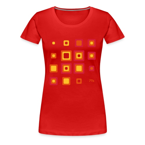 Future Retro RED from 7Ts - Women's Premium T-Shirt