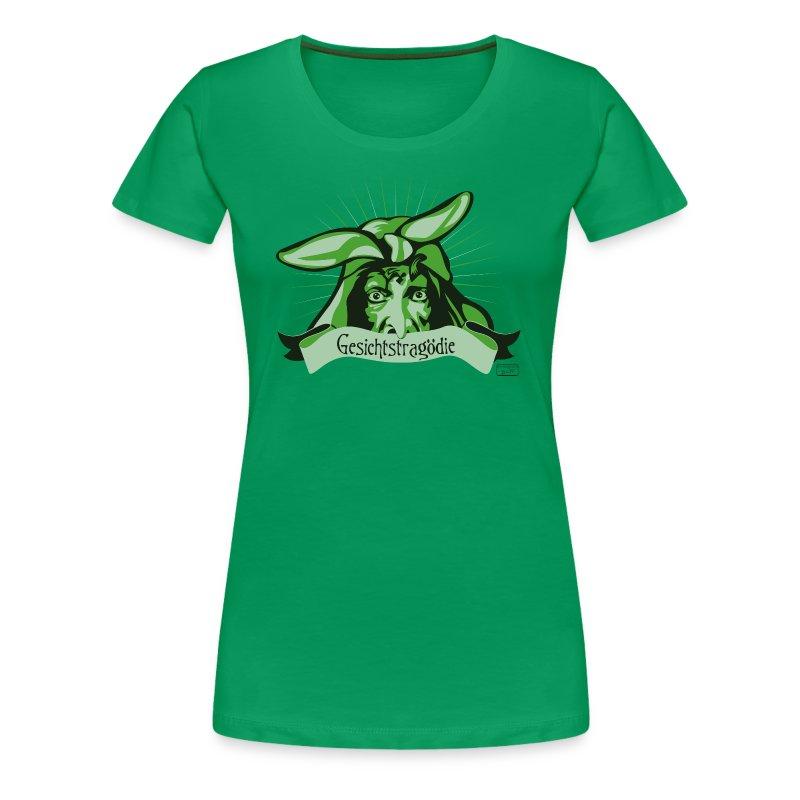 Frauen Premium T-Shirt - Gesicht,Gesichtstragödie