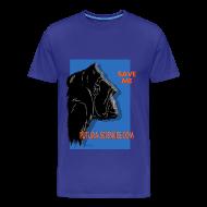 Tee shirts ~ T-shirt Premium Homme ~ Save Gorille homme bleu royal
